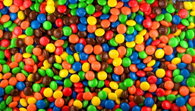 M & M   Chocolate para soldados!